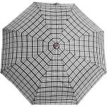 Ομπρέλα σπαστή καρώ με ξύλινη λαβή Guy Laroche Folding Check Umbrella, καρώ εκρού