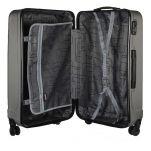 Βαλίτσα σκληρή μεσαία με 4 ρόδες γκρι  Dielle 90 60 cm Anthracite, εσωτερικό