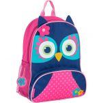 Σακίδιο πλάτης παιδικό κουκουβάγια Stephen Joseph New Sidekick Backpack Owl Blue.