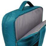 Τσάντα ταξιδίου - σακίδιο πλάτης τιρκουάζ Stelxis Ultra Light Cabin Bag Turquoise, πίσω όψη, θέση laptop