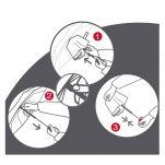 Ομπρέλα super mini σπαστή αντηλιακή Knirps X1 With UV Protection Lily Stone, οδηγίες χρήσης