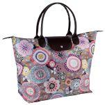 Τσάντα γυναικεία συνθετική αγοράς με λουλούδια