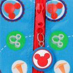 Σακίδιο πλάτης παιδικό Disney Mickey Mouse 3D World Backpack, λεπτομέρεια, φερμουάρ.