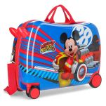 Βαλίτσα παιδική μικρή με 4 ρόδες Disney Mickey Mouse World Luggage.