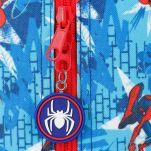 Τσάντα ταξιδίου παιδική Spiderman Street Travel Bag, λεπτομέρεια, φερμουάρ.
