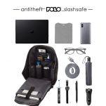 Σακίδιο πλάτης επαγγελματικό αντικλεπτικό μαύρο POLO Anti-Theft Backpack Black