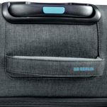 Βαλίτσα υφασμάτινη μεγάλη επεκτάσιμη γκρι με 4 ρόδες BG Berlin Aerolite Luggage 28'' Titanium, λεπτομέρεια, χειρολαβή.