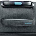 Βαλίτσα υφασμάτινη μεσαία επεκτάσιμη γκρι με 4 ρόδες BG Berlin Aerolite Luggage 24'' Titanium, λεπτομέρεια, χειρολαβή.