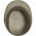 Καπέλο τραγιάσκα μπεζ ριγέ καλοκαιρινό Kangol Stripe 504 Beige / Smog, εσωτερικό