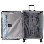 Βαλίτσα μαλακή μεσαία γκρι επεκτάσιμη  με 4 ρόδες Echolac Soft Luggage Grey, εσωτερικό.
