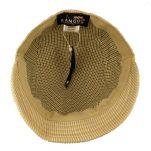 Καπέλο τραγιάσκα καλοκαιρινή μπεζ ριγέ Kangol Check Deeto Beige, εσωτερικό.
