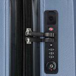 Βαλίτσα σκληρή επεκτάσιμη 4 ρόδες  σιέλ BG Berlin Enduro Luggage Expandable Sky Blue, λεπτομέρεια, κλειδαριά.