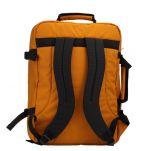 Τσάντα ταξιδίου - σακίδιο πλάτης μουσταρδί Cabin Zero Classic Ultra Light Cabin Bag Orange Chill, πίσω όψη