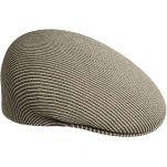 Καπέλο τραγιάσκα μπεζ ριγέ καλοκαιρινό Kangol Stripe 504 Beige / Smog, δεξιά όψη