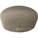 Καπέλο τραγιάσκα μπεζ ριγέ καλοκαιρινό Kangol Stripe 504 Beige / Smog, πίσω όψη