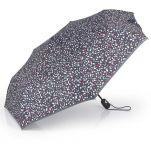 Ομπρέλα γυναικεία σπαστή αυτόματο άνοιγμα - κλείσιμο εμπριμέ ανθρακί Gabol Folding Umbrella Anthracite.