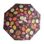 Ομπρέλα γυναικεία σπαστή  αυτόματο άνοιγμα και κλείσιμο Ferre Automatic Open - Close Folding Umbrella Autumn Leaves Black.