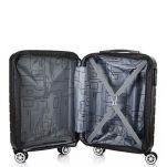 Βαλίτσα σκληρή μικρή επεκτάσιμη ανθρακί με 4 ρόδες Dielle 91 Expandable Luggage 4W 55 Anthracite, εσωτερικό.