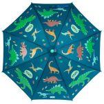 Ομπρέλα παιδική δεινόσαυροι που χρωματίζεται στη βροχή Stephen Joseph Color Changing Umbrella Dino, χωματισμένη.