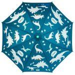Ομπρέλα παιδική δεινόσαυροι που χρωματίζεται στη βροχή Stephen Joseph Color Changing Umbrella Dino, αχρωμάτιστη.