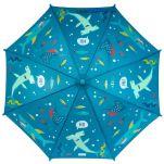 Ομπρέλα παιδική που χρωματίζεται στη βροχή καρχαρίας Stephen Joseph Color Changing Umbrella Shark, χρωματισμένη.