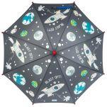 Ομπρέλα παιδική που χρωματίζεται στη βροχή διάστημα Stephen Joseph Color Changing Umbrella Space, αχρωμάτιστη.