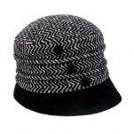 Καπέλο γυναικείο χειμερινό μάλλινο γκρι ψαροκόκαλο Hat You Ladies Winter Hat Grey.