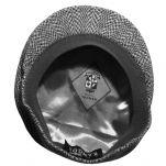 Καπέλο τραγιάσκα χειμερινό μαύρο Kangol Herringbone 504 Cap