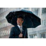 Ομπρέλα μεγάλη αυτόματη μαύρη με ξύλινη λαβή Knirps Stick Long AC Black