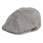 Καπέλο τραγιάσκα χειμερινό μαύρο Kangol Herringbone 507 Cap
