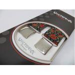 Τιράντες ανδρικές ελαστικές με ρίγες Victoria 36 mm, λεπτομέρεια, συσκευασία