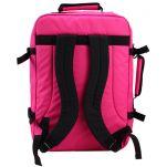 Τσάντα ταξιδίου - σακίδιο πλάτης ροζ Cabin Zero Classic Ultra Light Cabin Bag Hot Pink, πίσω όψη