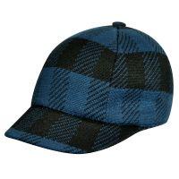 Καπέλο τζόκεϊ καρό Kangol Frontier Spacecap, μπλε, δεξιά όψη