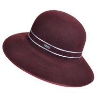 Καπέλο γυναικείο χειμερινό μάλλινο Kangol Corded Diva Vino, αριστερή όψη