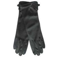 Γάντια γυναικεία σατέν μαύρα
