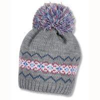 Καπέλο σκούφος χειροποίητος πλεκτός με πομ - πον Sterntaler Crochet Beanie Cap, ροζ