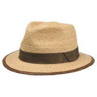 Καπέλο ψάθινο με καφέ γκρό κορδέλα Stetson Traveller Merriam Raffia