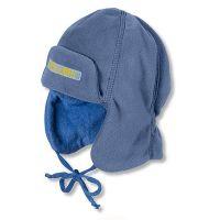Καπέλο σκουφάκι φλις με αυτιά παιδικό χειμερινό σκούρο μπλε Sterntaler Trapper Hat
