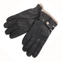 Γάντια ανδρικά δερμάτινα μαύρα Guy Laroche 98954