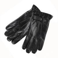 Γάντια ανδρικά δερμάτινα μαύρα Guy Laroche 98956