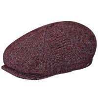 Καπέλο τραγιάσκα χειμερινό μπορντό Kangol Tweed Ripley