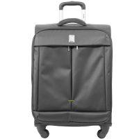Βαλίτσα υφασμάτινη μικρή ανθρακί με 4 ρόδες Delsey Flight
