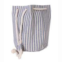 Τσάντα γυναικεία θάλασσας πουγκί με θαλασσί ρίγες