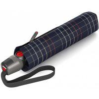 Automatic Open - Close Folding Umbrella Knirps T.200 Duomatic Check Black