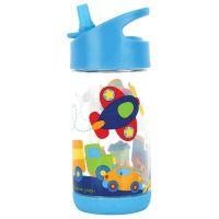 Παγουρίνο παιδικό με καλαμάκι μέσα μεταφοράς Stephen Joseph Flip Top Bottles Transportation