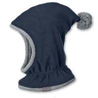 Καπέλο σκουφάκι παιδικό χειμερινό γκρι φλις με πομ - πον Sterntaler Inka Hat