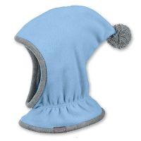 Καπέλο σκουφάκι παιδικό χειμερινό βαμβακερό πλεκτό μοβ με  πομ - πον Sterntaler Knitted Ηat