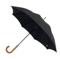 Ομπρέλα ανδρική αυτόματη μεγάλη με ξύλινη λαβή Guy Laroche