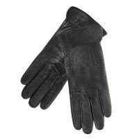 Γάντια γυναικεία δερμάτινα μαύρα Guy Laroche 98862