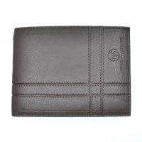Leather Horizontal Wallet Sergio Tacchini TLUP444 Brown